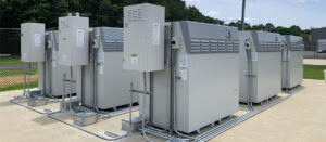 A Vanadium Redox Flow Battery (VRFB) system from Invinity. Photo courtesy of Invinity Energy Systems