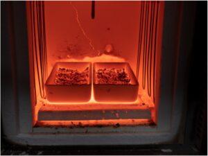 US Vanadium conducts a test of vanadium feedstock roasting.