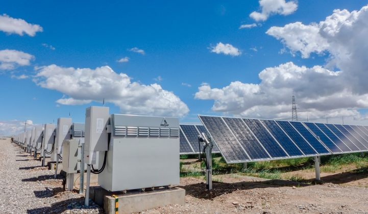 A Vanadium Redox Flow Battery (VRFB) system from Invinity at work providing power backup to a solar generating system. Photo courtesy of Invinity Energy Systems.